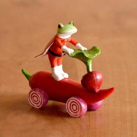 クーポンで最大15%OFF コポライダー レッド Copeau コポー 【 クッチーナ 】 カエル 雑貨 カエル グッズ 置物 玄関 乗り物 ヒーロー ライダー 戦隊もの レッド 赤 車 乗り物 インテリア コポーシリーズ かわいい プレゼント ギフト