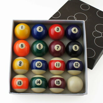 "Ball set pool ball 2 ""(bracelet beads 1 7/8"") 3112T"
