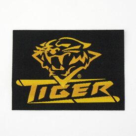 【メール便可】ビリヤード ワッペン Tiger タイガー ロゴマーク 黒/黄 四角