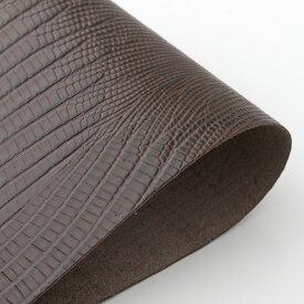 ビリヤード 革巻き用グリップレザー 皮巻き リザード型押 濃茶 LLW-DBR