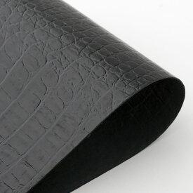 ビリヤード 革巻き用グリップレザー 皮巻き ホーンバックリザード型押 黒 HBL-BL