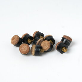 【メール便可】スヌーカー・E8 ハウスキュー用ネジ式タップ10ヶセット Screw On Tips 11mm