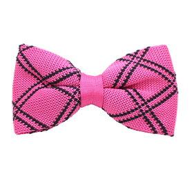 ピンク ブラック ライン ニット蝶ネクタイギフト プレゼント お祝い 結婚式 ビジネス 新生活 父の日 彼氏 夫 バレンタイン
