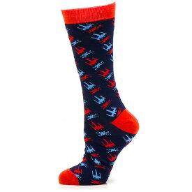 Star Wars スターウォーズ X-Wing ネイビー ソックス メンズクルーソックス 靴下メンズアクセサリーの通販ギフト プレゼント お祝い 結婚式 ビジネス 新生活 父の日 彼氏 夫 バレンタイン