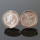 鎌倉カフス工房 イギリス6ペンスコインカフスボタン・カフリンクス メンズ dc004