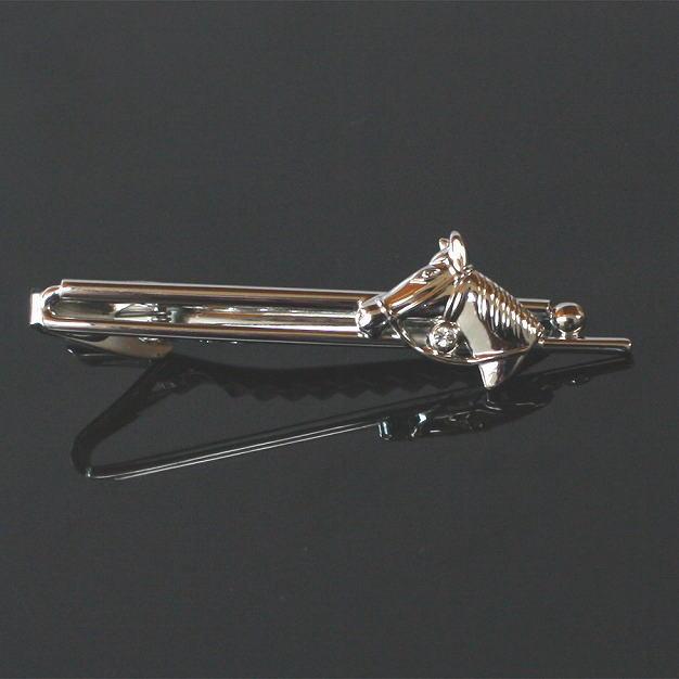 鎌倉カフス工房 クリスタル付・馬モチーフネクタイピン・タイバー メンズ ec161