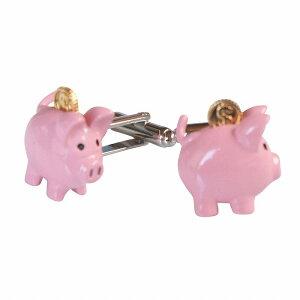 鎌倉カフス工房 ピンク豚の貯金箱カフスボタン・カフリンクス メンズ cf2062 結婚式 旦那 プレゼント ギフト 彼氏 父の日 誕生日プレゼント