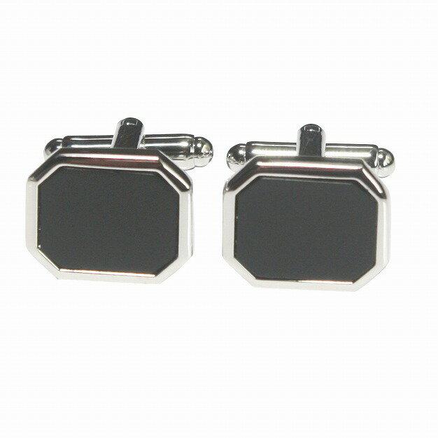 鎌倉カフス工房 ブラックオニキスフラット カフスボタン・カフリンクス メンズ bc019