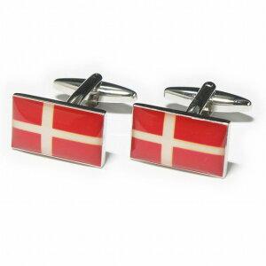 鎌倉カフス工房 デンマーク国旗 カフスボタン・カフリンクス メンズ ec122 結婚式 旦那 プレゼント ギフト 彼氏 父の日 誕生日プレゼント