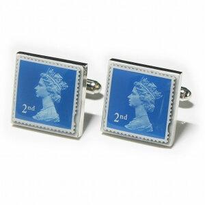 鎌倉カフス工房 イギリス切手 カフスボタン・カフリンクス メンズ ec141 結婚式 旦那 プレゼント ギフト 彼氏 父の日 誕生日プレゼント