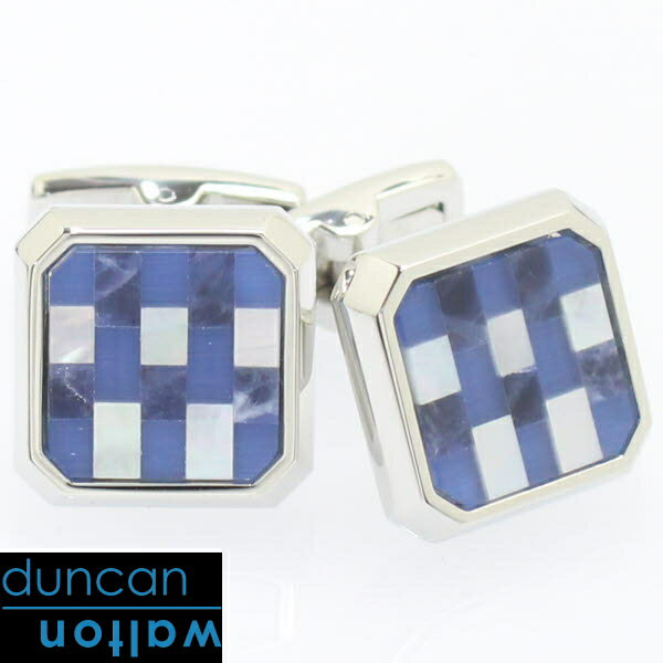 CHADWICK・ソーダライトのブロックカフス【Duncan Walton Luxury】