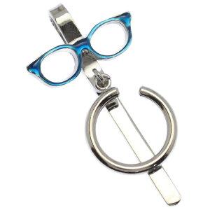 めがねホルダー おしゃれ メガネホルダー 眼鏡ホルダー メンズ 男性グラスホルダー SWANK 眼鏡 ブルー Eye Wear Show スーツアクセサリー専門店 プレゼント プチギフト おしゃれ カフスマニア