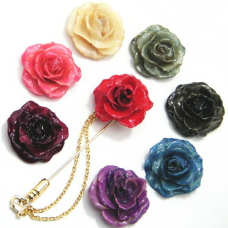 比真正玫瑰翻領別針 16 顏色選擇真正玫瑰和玫瑰的使用