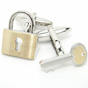[福袋A]二つで一つ シルバー×ゴールドの鍵カフス カフスボタン カフリンクス cufflinks cuffs メンズ 男性 結婚式 リアルな ゴールド シルバー スーツアクセサリー専門店 プレゼント プチギフ