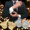 ミッキーマウス ゴールド シルバー カフリンクス カフスボタン ネコポス コンビニ