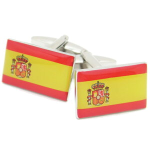 Buenas tardesスペイン国旗 カフス カフスボタン カフリンクス cufflinks cuffs メンズ 男性 結婚式 ユニーク おもしろ 面白 面白い スーツアクセサリー専門店 父の日 ギフトにも ブライダル 披露宴