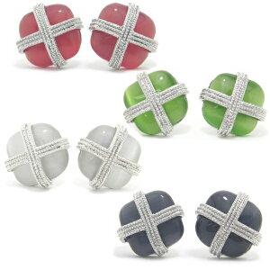 全4色Carinaクロスとキャッツアイカフス カフスボタン カフリンクス cufflinks cuffs メンズ 男性 誕生日 プレゼント おしゃれ カフスマニア