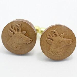 [福袋A]Coinderoux牡鹿の横顔 レザー皮革ボタン カフス カフスボタン カフリンクス cufflinks cuffs メンズ 男性 結婚式 ユニーク おもしろ 面白 面白い 動物 植物シリーズ スーツアクセサリー専門