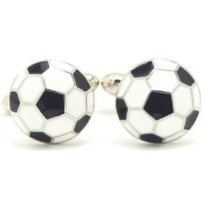 勝負は白黒はっきりサッカーボール カフス カフスボタン カフリンクス cufflinks cuffs メンズ 男性 結婚式 ユニーク おもしろ 面白 面白い スポーツ ゲーム スーツアクセサリー専門店 ブライダ