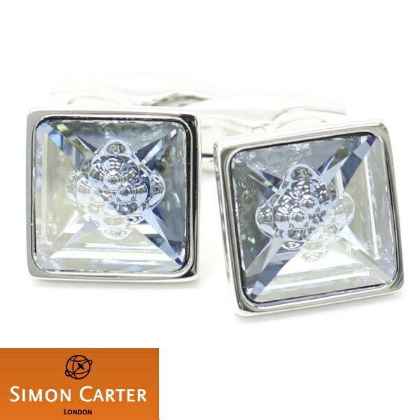 カフス サイモン カーター 英国 ブランド SIMON CARTER ANTIQUE クリスタルバブル ブルー カフス カフスボタン カフリンクス cufflinks cuffs メンズ 男性