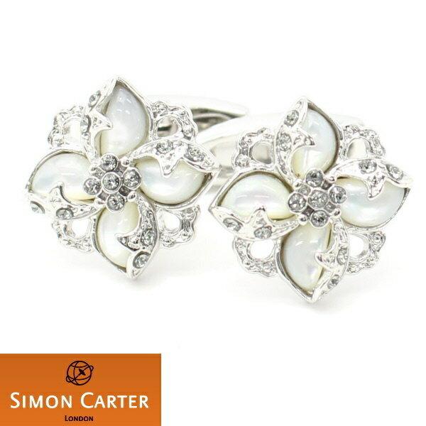 カフス サイモン カーター 英国 ブランド SIMON CARTER DECO マザーオブパール フラワー カフス カフスボタン カフリンクス cufflinks cuffs メンズ 男性 あす楽対応 おしゃれ プレゼント 誕生日 贈り物 パーティー 結婚式