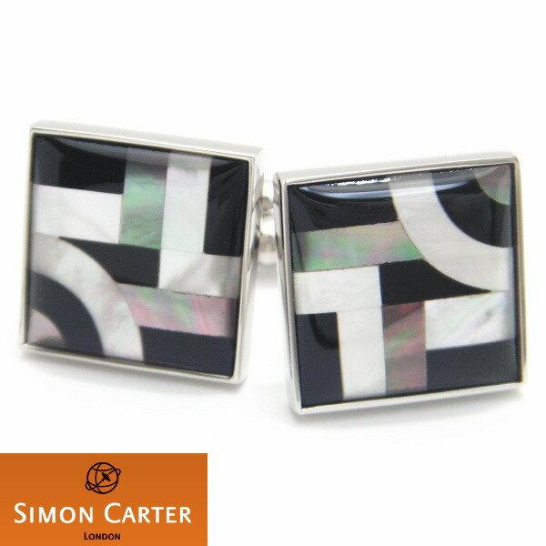 カフス サイモン カーター 英国 ブランド SIMON CARTER BAUHAUSライン模様 カフス カフスボタン カフリンクス cufflinks cuffs メンズ 男性