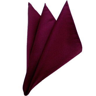 Beautiful pocket handkerchief satin wine pocket square of 100% of silk made in Japan, glossiness