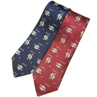 Constellation tie, all two-color and fish of Pisces Nishijin-Ori woven tie