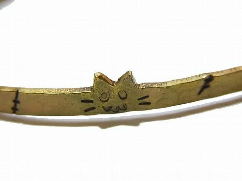 『フランケン猫ブレスレット』【林檎屋】送料無料カワイイカジュアルアニマル動物指輪ハンドメイド手作り個性的アクセサリーユニークオリジナルねこコミカル面白いおもしろ楽しいゆるい真鍮珍しいプレゼント誕生日物語メルへン