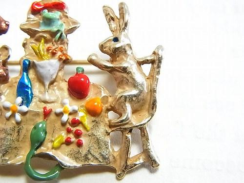 パルナートポックブローチ『森の宴ブローチ』【PalnartPocパルナートポック】【BroughSuperiorブラフシューペリア】送料無料アニマル動物ウサギクマ花星アクセサリー個性的プレゼントメルヘン絵本物語おもしろかわいいグッズcoolkawaii
