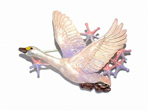 パルナートポックブローチ鳥★メール便送料無料★『白鳥星雲』PalnartPoc誕生日宇宙スター星座メルヘン女性バードカジュアルメルヘン人気可愛いアクセサリージュエリー大胆ご褒美ユニークかわいいレディースプレゼント雑貨目を引く定番