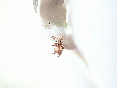パルナートポックピアス豚★メール便送料無料★『ピーとグゥ』【PalnartPoc】【ブラフシューペリア】ブタぶたアクセサリーアニマルジュエリー動物おもしろプレゼントかわいい可愛いどうぶつグッズ誕生日贈り物雑貨ハンドメイド人気オススメ
