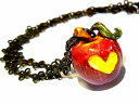 『 毒りんご ネックレス 』【 Wadou-koubou 和道工房 】 林檎 アップル リンゴ フルーツ 果物 アクセサリー ポイズン メルヘン 個性的 …