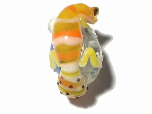 【在庫有り】トカゲアクセサリー『ヒョウモンくん九』kengtaroケンタローペンダントトップネックレス硝子ガラスヒョウモントカゲモドキレオパードゲッコー誕生日ジュエリーかわいいプレゼント女性蜥蜴爬虫類ユニークおもしろオパールストーン