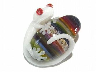 空 (红眼蛙) 可爱的青蛙赛季 4 (红眼蛙和黑色蛋白石) 挂件配件鲜明独特的中型玻璃手工作家青蛙青蛙玩具做时尚玩具艺术