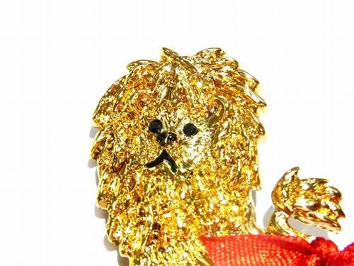 ルチカブローチ『おめかしライオン』(ブルーリボン/レッドリボン)★メール便送料無料★【Luccica】プレゼントギフト百獣の王かわいいカジュアルオシャレ楽しいアニマル動物チャーム面白い個性的ナチュラル楽しいおもしろモチーフ