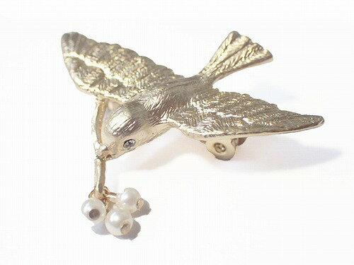 ルチカブローチ鳥★メール便送料無料★『pearlbird』Luccicaプレゼントかわいい個性的エレガント空そら雑貨綺麗爽やかお洒落ジュエリー星モチーフグッズ女性プレゼントユニークさりげない上品おもしろ
