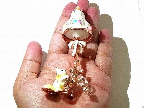 『マリーのスタンドランプジュエリーボックス』(ホワイト)【ピィアースPiearthJapan】アクセサリー置物インテリアケース動物アニマルかわいいモチーフオブジェグッズ鳥バード猫ネコねこBOX指輪ピアスリングネックレスブローチ箱チャーム