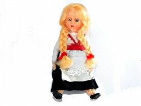 『 みつあみの女の子 人形 イタリア製 』【1950年代】 ビンテージ ドール かわいい 置物 インテリア 海外 ダンス ユニーク 珍し ヴィンテージ 海外輸入 プレゼント コレクション 誕生日 アメリカ 輸入品 おもしろ 古い 他にない レディース ファッション 金髪 精密