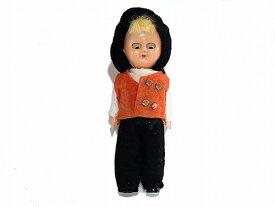 『 帽子の男の子 人形 』【1950年代】 ビンテージ ドール かわいい 置物 インテリア ダンス 希少 珍しい ヴィンテージ 海外輸入 プレゼント コレクション 誕生日 アメリカ 輸入品 おもしろ 古い 他にない レディース ファッション 金髪 精密 帽子 ハット 少年 ボーイ