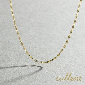 ロングネックレス K18 foliole chain 60 ロングネックレス K18 18金 18k ネックレス 地金 ゴールド レディース  シンプル チェーン ロング 【あす楽対応】