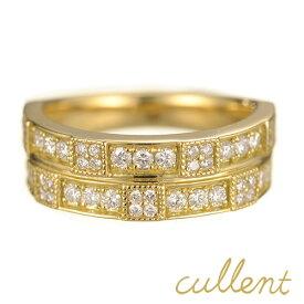 K18 ダイヤモンド リング edifice リング K18 18金 18k ゴールド ダイヤモンド 指輪 レディース ジュエリー アクセサリー おしゃれ ハーフエタニティ