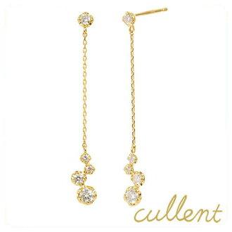 K18 diamond earrings Fortuna