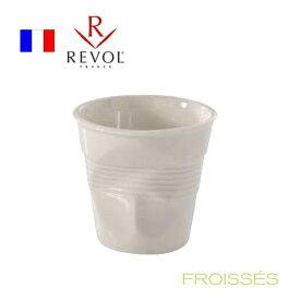 レヴォル フロワッセ エスプレッソ ホワイト 616096 RLB-42[関連:REVOL フランス ブランド デザイン グラス 耐熱性磁器 コーヒーカップ]