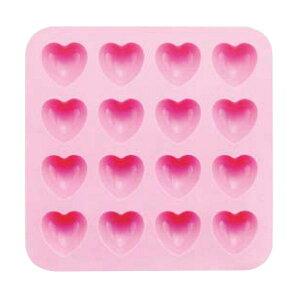 シリコン チョコレートモールド SIG-51 ハートピンク WTY-C0[関連:お菓子作り用品 オーブン レンジ対応 かわいい ハート型 チョコ ゼリー クッキー マドレーヌ]