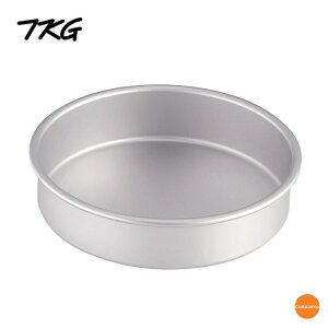 TKG アルマイトデコレーション 共底浅型 7インチ WDK-81[関連:業務用 製菓用品 型 アルミ製 ケーキ型 お菓子作り デコレーションケーキ]
