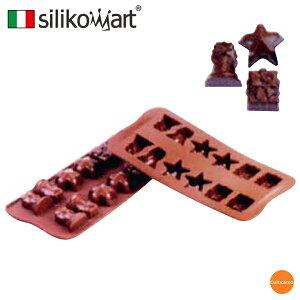 シリコマート シリコン チョコレートモルド クリスマス SCG06 WML-A1[関連:silikomart イタリア お菓子作り用品 チョコ クッキー ゼリー シャーベット 型 食器洗浄機対応 かわいい キャラ