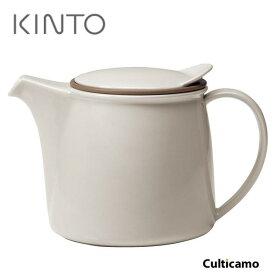 キントー ブリム ティーポット グレー 22390 750ml PTI-98[関連:KINTO BRIM おしゃれ ポット 紅茶 磁器 ストレーナー 茶こし付]