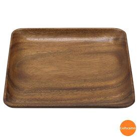 アカシア スクエアプレート 25cm PAK-13[関連:萬洋 業務用 テーブルウェア 天然木 木製 食器 正角皿]