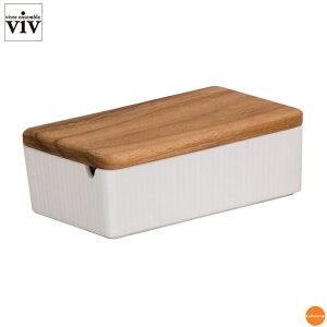 VIV バターケース ホワイト 26251 BBT-94[関連:ヴィヴアンサンブル 業務用 保存容器 バターキーパー ピーナッツバター チョコレート クリームチーズ ジャム]